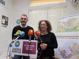Podemos y Ahora Murcia piden la anulación del Plan General de Murcia