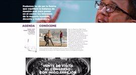 Errejón lanza su propia web con un sorteo para visitar el Congreso con él