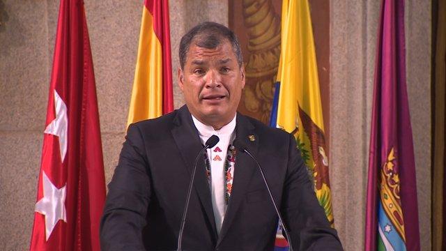 Correa agradece solidaridad de España con Ecuador