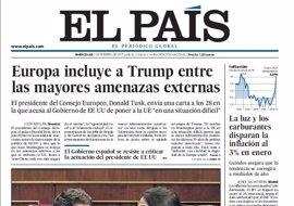 Las portadas de los periódicos de hoy, miércoles 1 de febrero de 2017