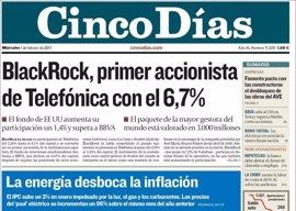 Las portadas de los periódicos económicos de hoy, miércoles 1 de febrero