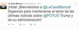 La Casa Blanca retoma su comunicación en español para Twitter