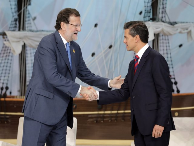 Mariano Rajoy y  Enrique Peña Nieto