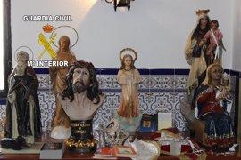 Recuperadas cuatro imágenes religiosas sustraídas en una ermita de Frailes