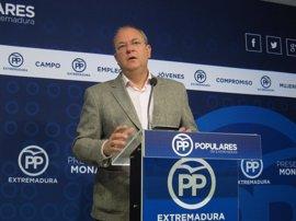 """Monago pide un pleno monográfico sobre empleo para """"cambiar el rumbo"""" de la región"""