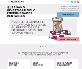 Asociaciones sanitarias, de consumo, científicas y ONG piden a Sanidad que reduzca el precio de fármacos innovadores