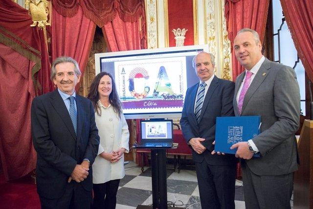 Presentación del sello que Correos dedica a la provincia de Cádiz