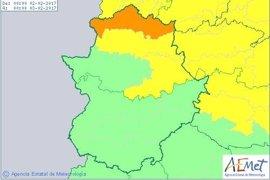 El 112 activa alertas por lluvia, nieve y vientos este jueves en Cáceres