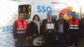 La UTE SSG-SSGA es galardonada por su baja siniestralidad con el premio de Mutua Intercomarcal