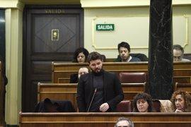 """Rufián (ERC) replica al Gobierno que Cataluña es un """"país"""" que """"rompe precintos"""" y """"no discos duros"""""""