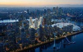 Calatrava desembarca en Londres con una plaza cubierta de 24 metros con galerías de cristal y tres torres de oficinas