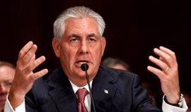 Tillerson habla con altos cargos de Alemania, México, Canadá e Israel en su primer día en el cargo