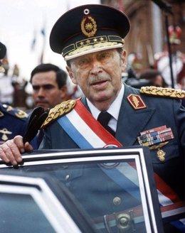 El dictador paraguayo Alfredo Stroessner