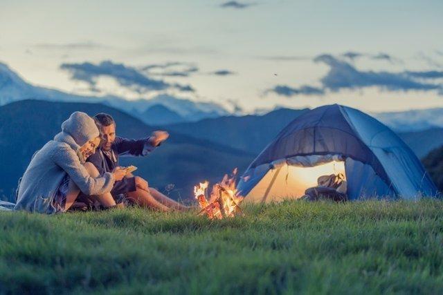 Acampada, campo, tiempo libre