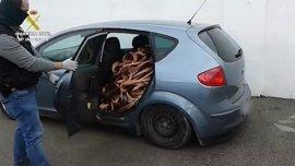 Detenidos los miembros de una red que robó 15 toneladas de cable de cobre en Badajoz y Jaén