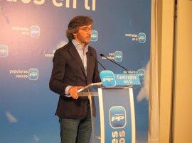 """PP alavés afirma que el alcalde de Vitoria seguirá siendo """"un títere"""" de EH Bildu y que ni el propio PNV """"cree en él"""""""