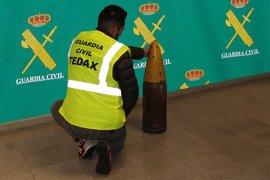 Neutralizado un proyectil de uso militar encontrado en el sótano de una vivienda en Ponteareas