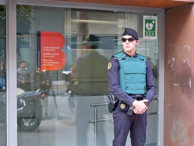 Registro de la Guardia Civil en Bimsa