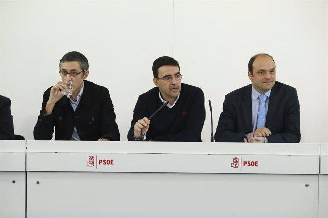 Mario Jiménez, Eduardo Madina y José Carlos Rodríguez hablan sobre los trabajos