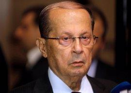 El presidente libanés pide la creación en Siria de zonas seguras para refugiados