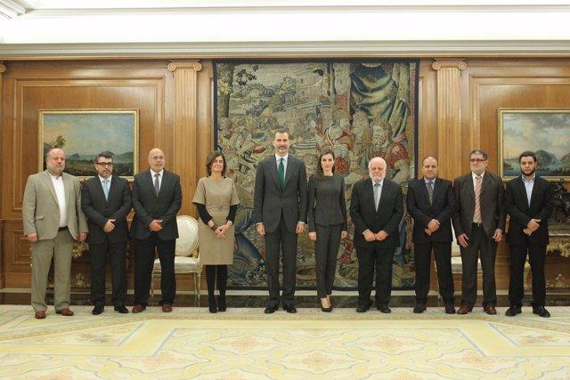 Los Reyes reciben en audiencia a la Comisión Islámica de España