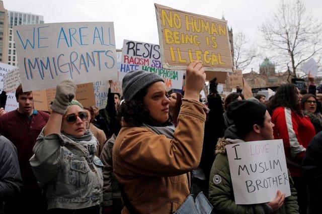 Protestas contra la prohibición de Trump