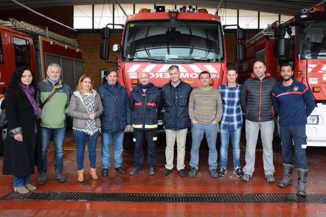 Visita al parque de bomberos.