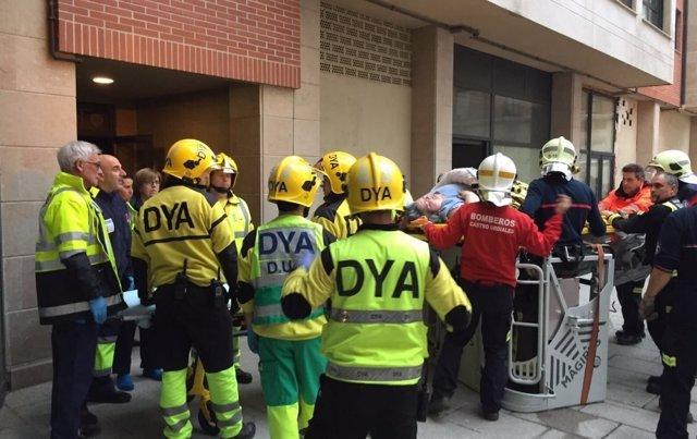 Evacuación de la mujer con obesidad morbida en Castro Urdiales
