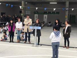 Cristina Uriarte inaugura el nuevo edificio del centro público Aiete en San Sebastián