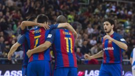 El Barça Lassa sigue líder tras golear (6-1) al Jumilla