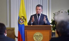 """Santos se compromete a evitar amenazas contra los líderes sociales en Colombia """"en este clima de paz"""""""