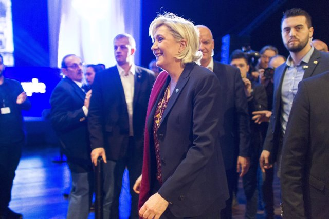 La líder del ultraderechista Frente Nacional francés, Marine Le Pen