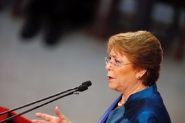 """Bachelet asegura que la crisis forestal chilena """"está llegando a su fin"""""""