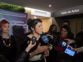 "Teresa Rodríguez pide evitar un ""empacho"" institucional para no perder el pulso a la calle"