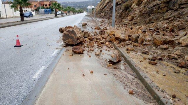 Casares temporal 2016 piedras precipitaciones lluvias tromba costa málaga