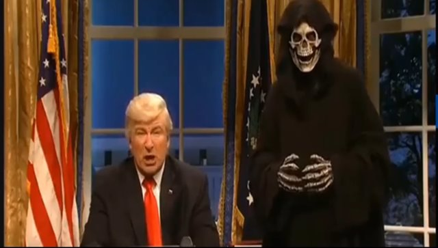 Alec Baldwin como Donald Trump en SNL