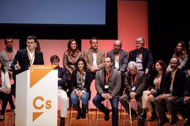 Asamblea de Ciudadanos - Albert Rivera y líderes regionales