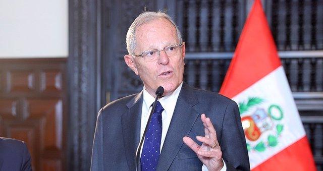 El presidente de Perú, Pedro Pablo Kuczyinski