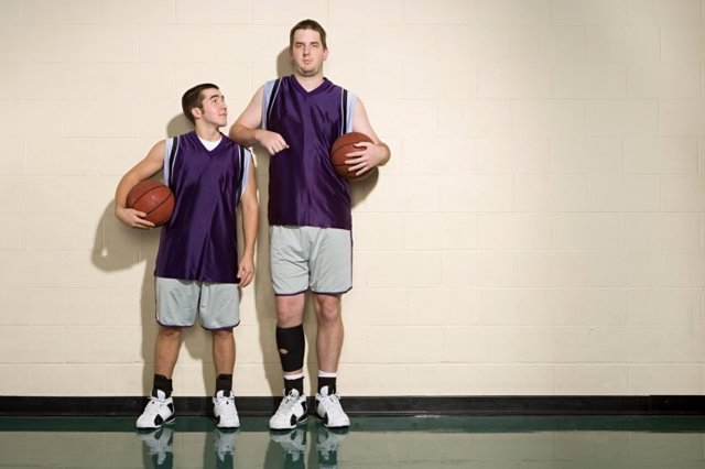 Hombres, hombre, alto, baloncesto, deporte, equipo
