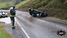 El fin de semana deja 52 accidentes con un herido grave y quince leves