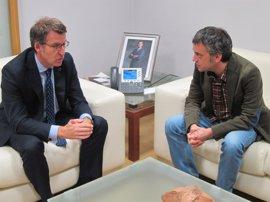 """Feijóo y Ferreiro mantienen una reunión """"cordial"""" con anuncios de nuevas inversiones en A Coruña"""