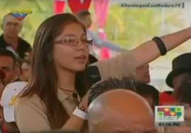 Una estudiante denuncia ante Maduro que muchos compañeros se desmayan de hambre