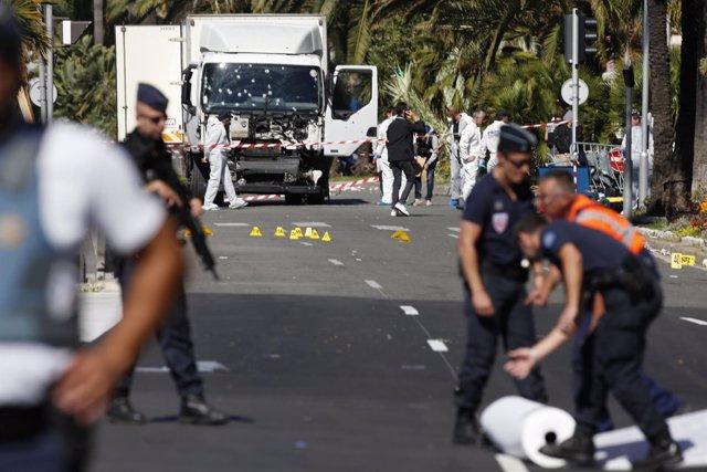 Imagen del atentado en Niza