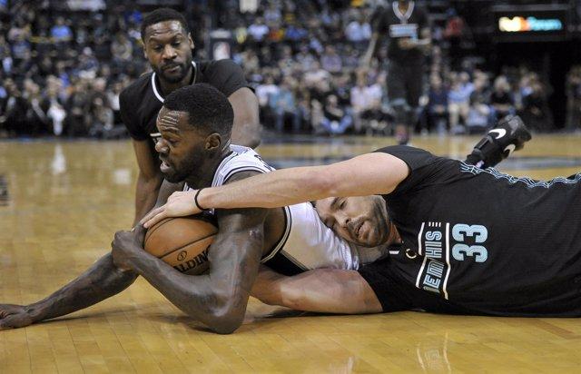 Marc Gasol en el San Antonio Spurs - Memphis Grizzlies