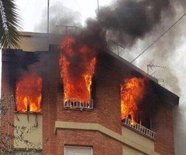 Fallece la anciana que resultó intoxicada de humo en el incendio de su vivienda en Vila-real