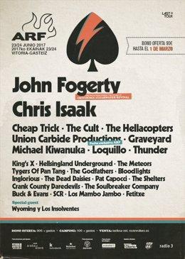 Cartel definitivo del Azkan Rock Festival 2017