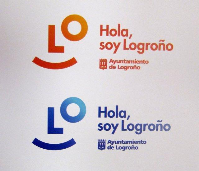 La nueva 'Marca Logroño', en dos de sus colores