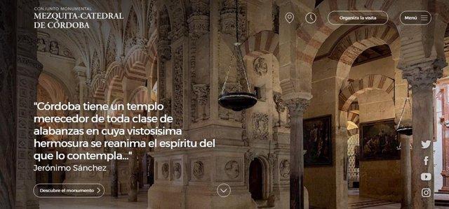 Imagen que ofrece la nueva web del Cabildo sobre la Mezquita