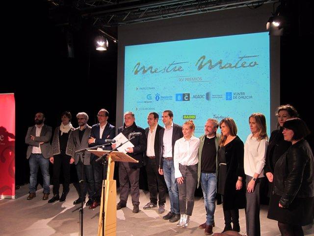 Candidatos a los premios Mestre Mateo de la Academia Galega do Audiovisual