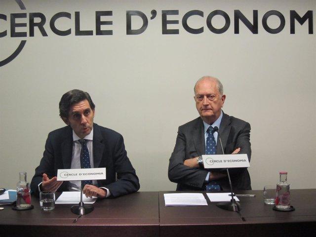 José María Álvarez-Pallete (Telefónica) Juan José Brugera (Círculo de Economía)